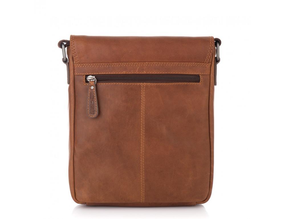 Мужская кожаная сумка мессенджер HILL BURRY - 10096HB Brown - Фото № 2
