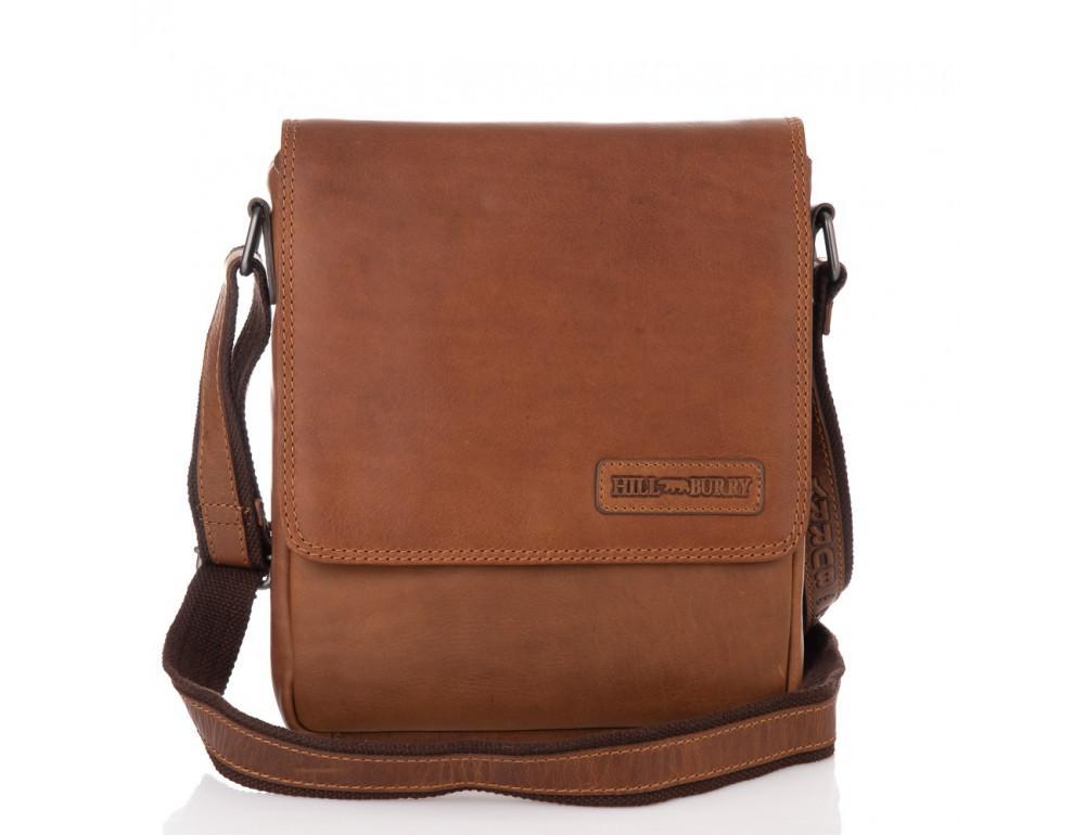 Мужская кожаная сумка мессенджер HILL BURRY - 10096HB Brown - Фото № 3