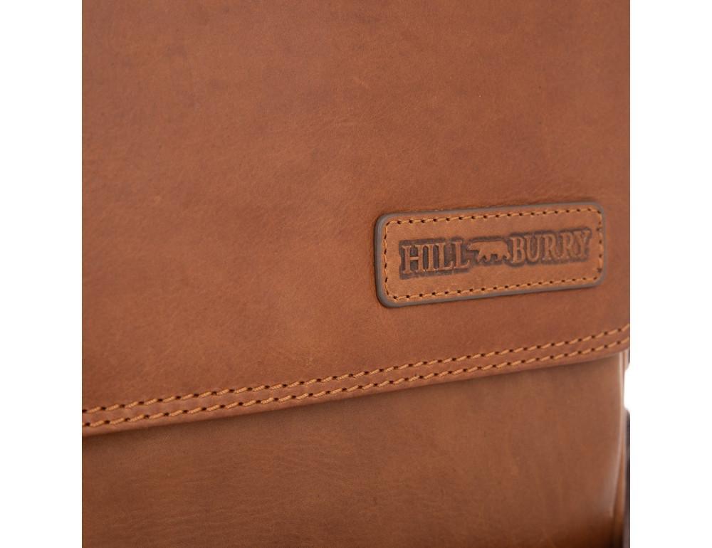 Мужская кожаная сумка мессенджер HILL BURRY - 10096HB Brown - Фото № 4