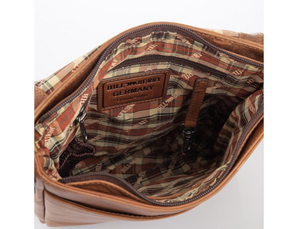 Мужская кожаная сумка мессенджер HILL BURRY - 10096HB Brown - Фото № 5