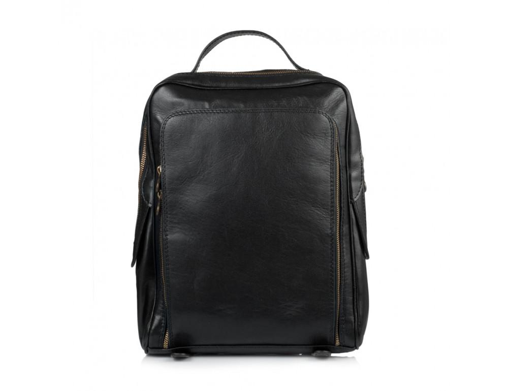Чёрный кожаный рюкзак VIRGINIA CONTI (ИТАЛИЯ) - VCM00354/0604Black - Фото № 2