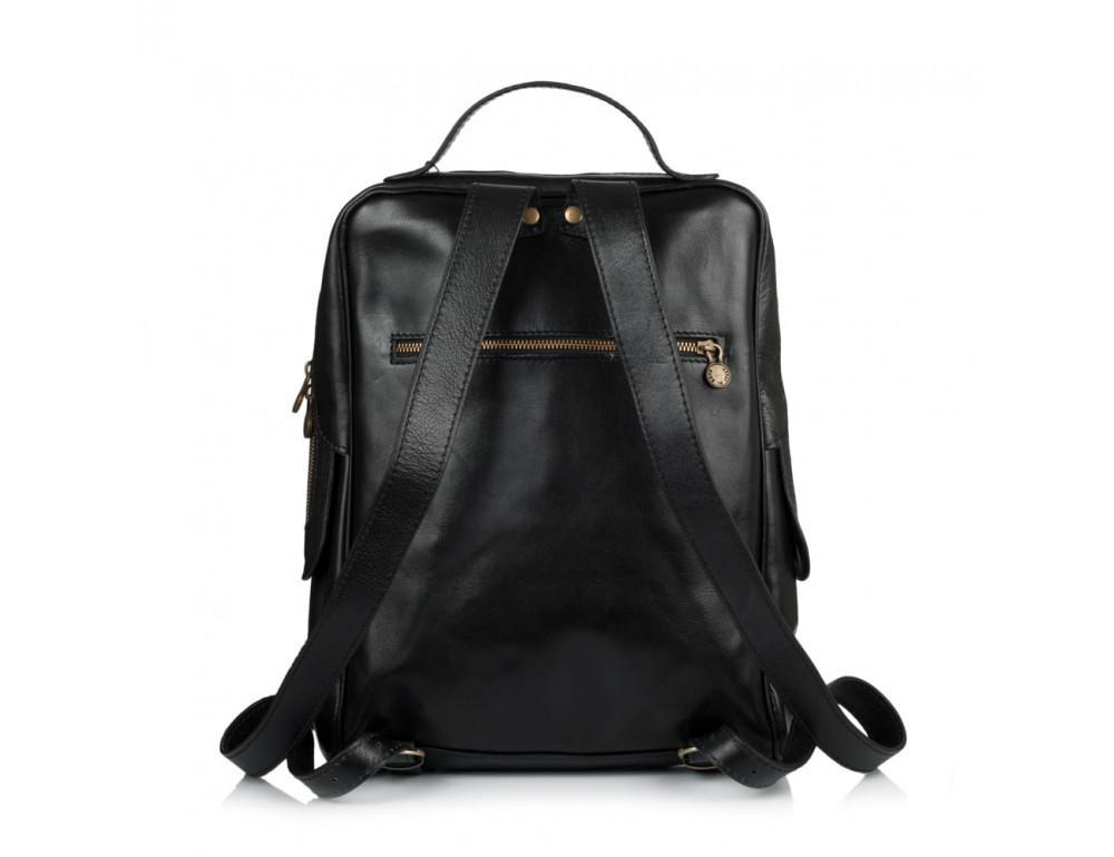 Чёрный кожаный рюкзак VIRGINIA CONTI (ИТАЛИЯ) - VCM00354/0604Black - Фото № 3