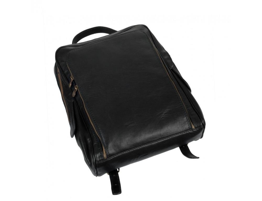 Чёрный кожаный рюкзак VIRGINIA CONTI (ИТАЛИЯ) - VCM00354/0604Black - Фото № 4