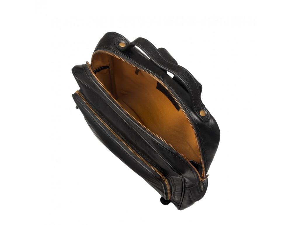 Чёрный кожаный рюкзак VIRGINIA CONTI (ИТАЛИЯ) - VCM00354/0604Black - Фото № 5