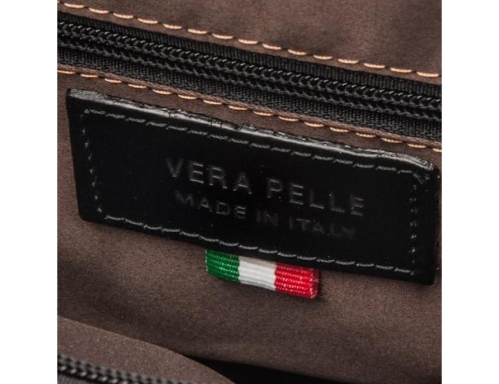 Чёрный кожаный рюкзак VIRGINIA CONTI (ИТАЛИЯ) - VCM00354/0604Black - Фото № 6