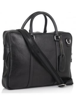 Чорна шкіряна сумка під ноут VIRGINIA CONTI - VCM01112BLACK