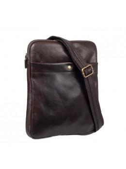 Коричневая кожаная сумка через плечо мужская VIRGINIA CONTI (ИТАЛИЯ) - VCM01349 Brown