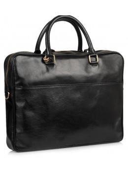 Чорна шкіряна сумка під ноутбук VIRGINIA CONTI VCM01512A