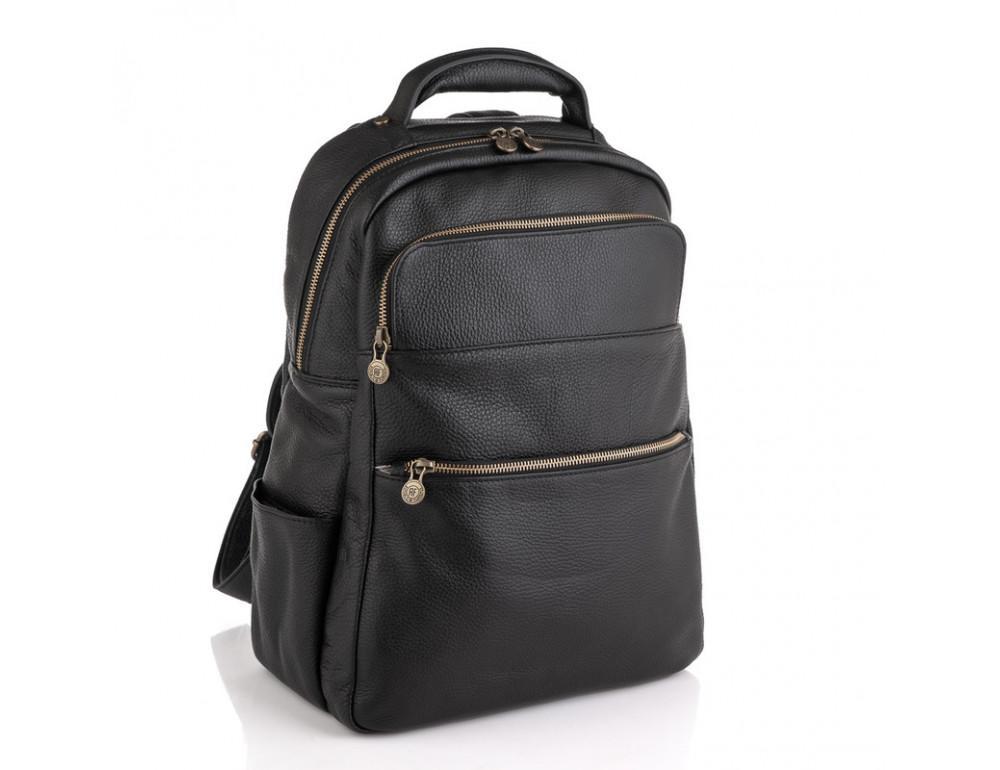 Чёрный кожаный рюкзак VIRGINIA CONTI (ИТАЛИЯ) - VCM03048BLACK - Фото № 1