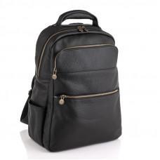 Чёрный кожаный рюкзак VIRGINIA CONTI (ИТАЛИЯ) - VCM03048BLACK