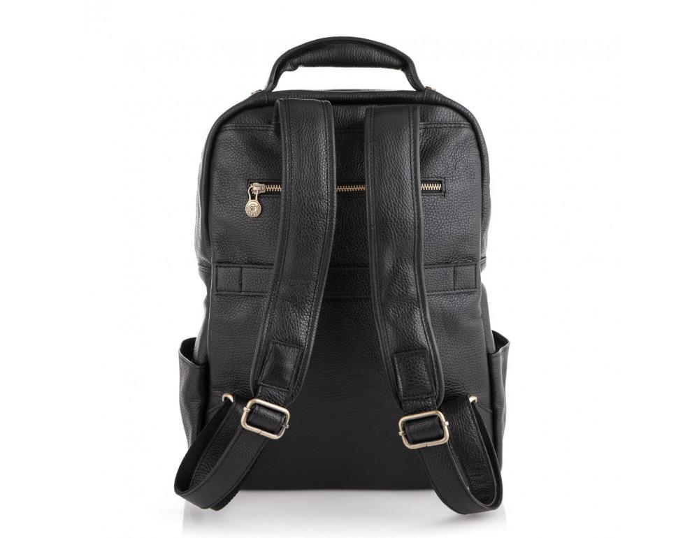 Чёрный кожаный рюкзак VIRGINIA CONTI (ИТАЛИЯ) - VCM03048BLACK - Фото № 2