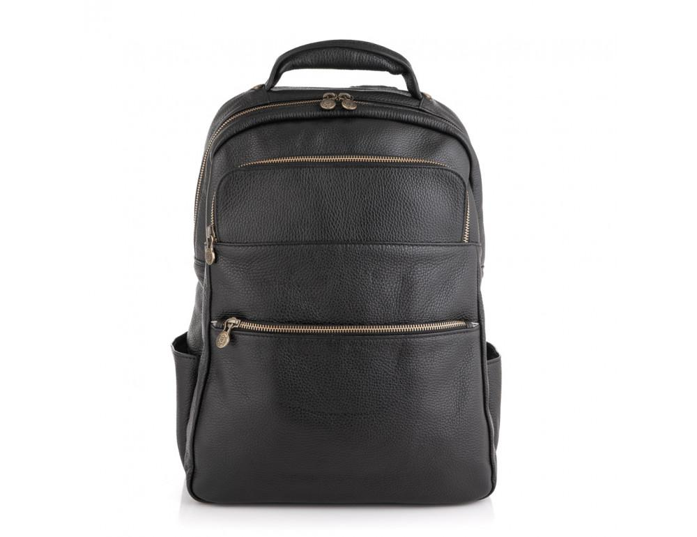 Чёрный кожаный рюкзак VIRGINIA CONTI (ИТАЛИЯ) - VCM03048BLACK - Фото № 3