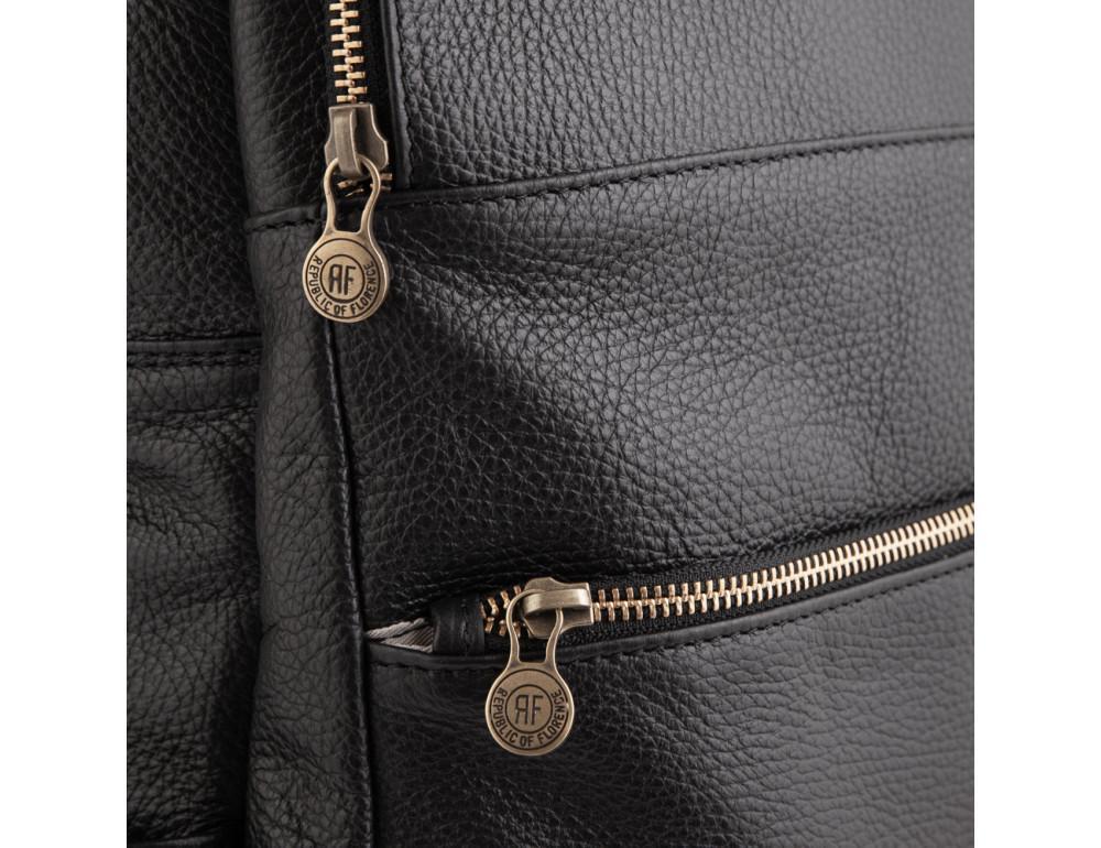 Чёрный кожаный рюкзак VIRGINIA CONTI (ИТАЛИЯ) - VCM03048BLACK - Фото № 4