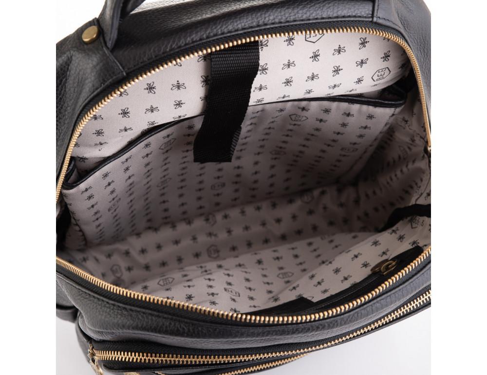 Чёрный кожаный рюкзак VIRGINIA CONTI (ИТАЛИЯ) - VCM03048BLACK - Фото № 5