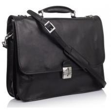Стильный кожаный портфель VIRGINIA CONTI VCMJN02BLACK