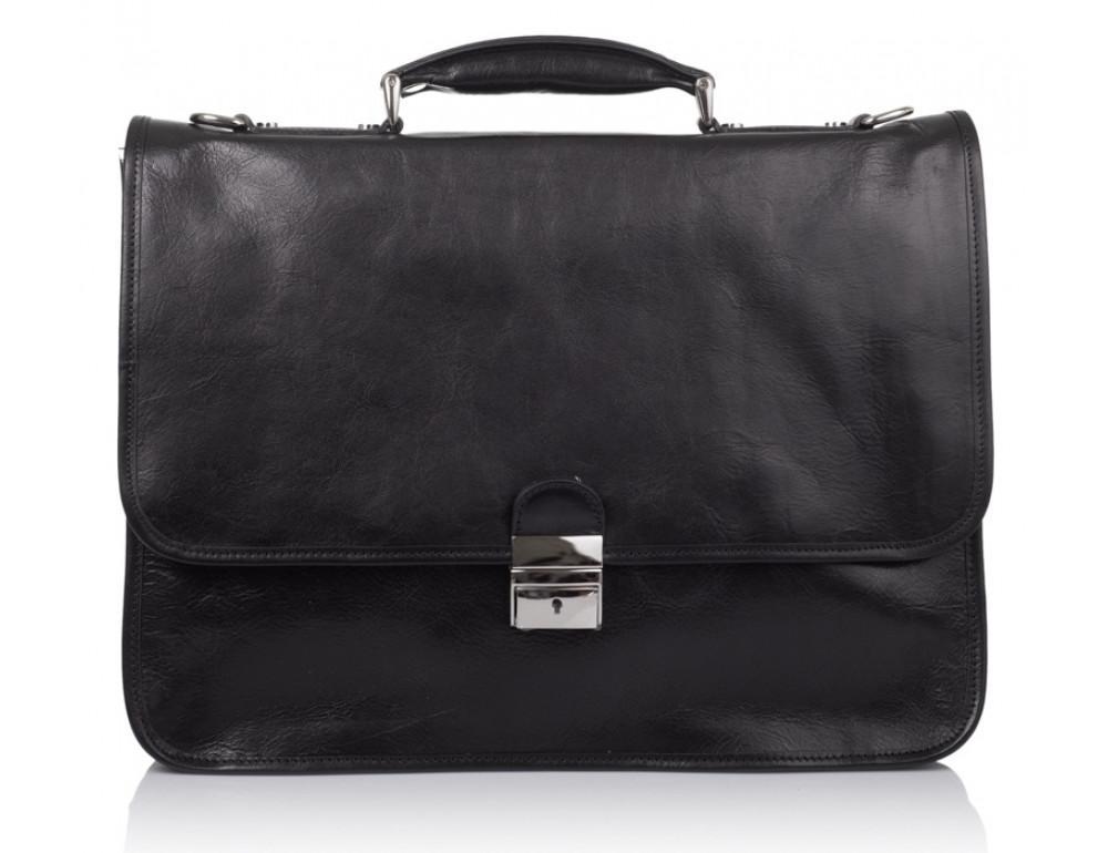 Стильный кожаный портфель VIRGINIA CONTI VCMJN02BLACK - Фото № 2