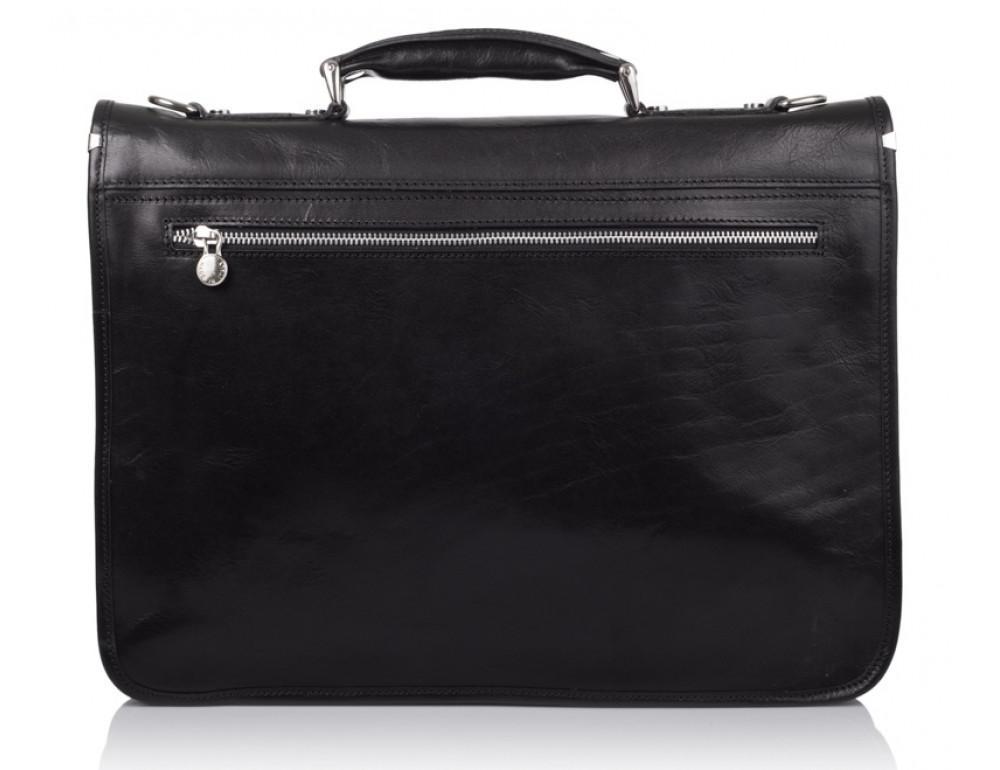 Стильный кожаный портфель VIRGINIA CONTI VCMJN02BLACK - Фото № 3