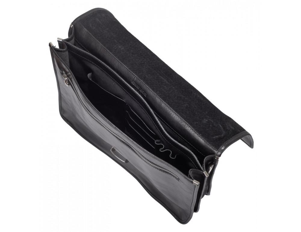 Стильный кожаный портфель VIRGINIA CONTI VCMJN02BLACK - Фото № 5