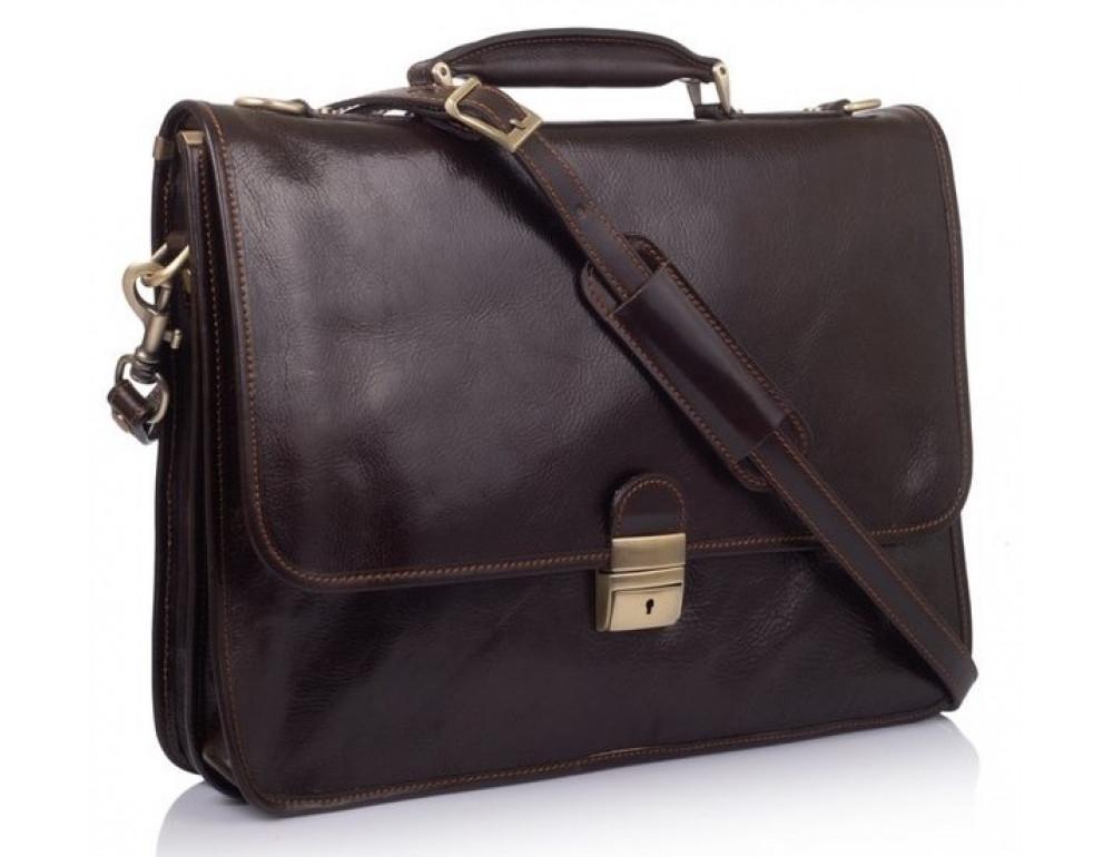Стильный кожаный портфель VIRGINIA CONTI VCMJN02BROWN - Фото № 1