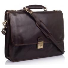 Стильный кожаный портфель VIRGINIA CONTI VCMJN02BROWN