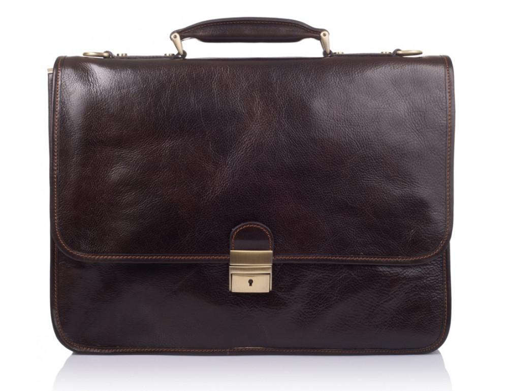 Стильный кожаный портфель VIRGINIA CONTI VCMJN02BROWN - Фото № 2