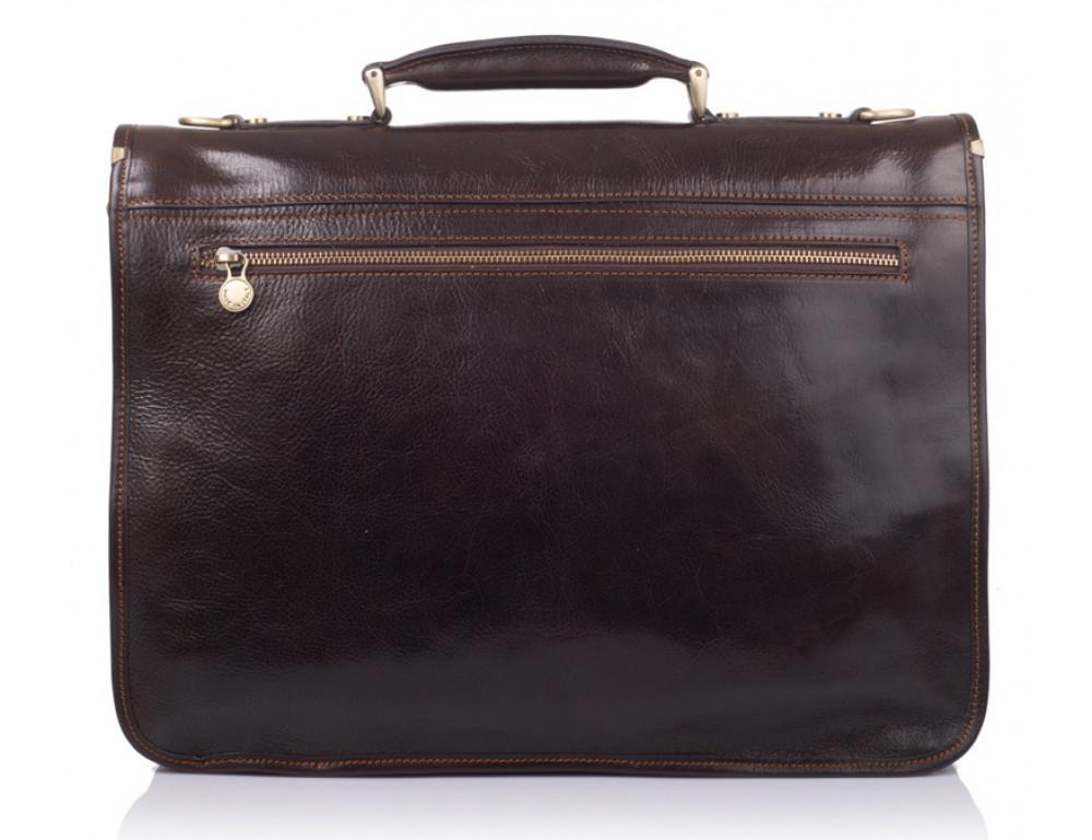 Стильный кожаный портфель VIRGINIA CONTI VCMJN02BROWN - Фото № 3