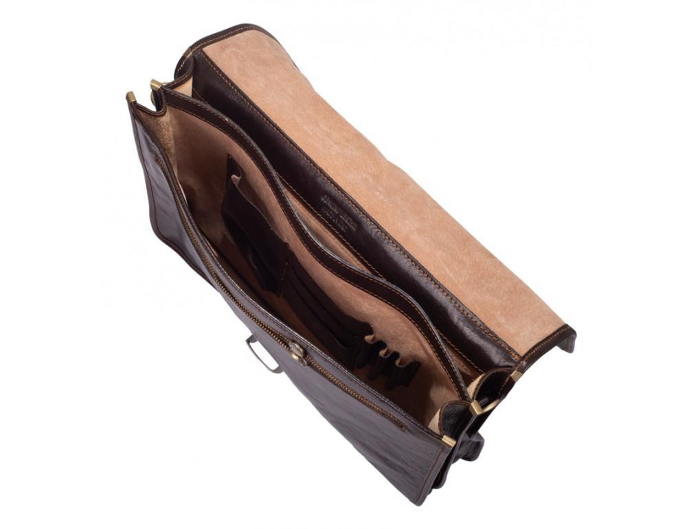 Стильный кожаный портфель VIRGINIA CONTI VCMJN02BROWN - Фото № 5