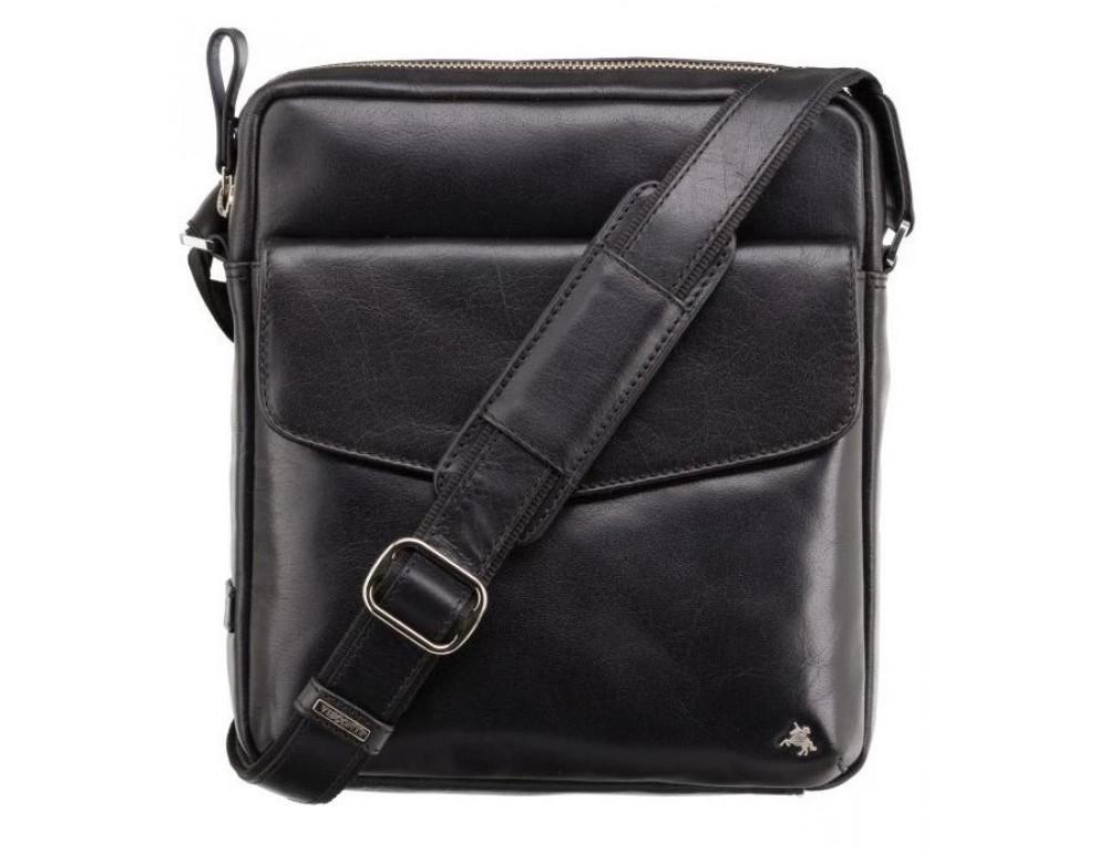 Чёрная мужская сумка на плечо Visconti ML36 BLK - Vesper A5 - Фото № 1