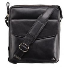 Чёрная мужская сумка на плечо Visconti ML36 BLK - Vesper A5