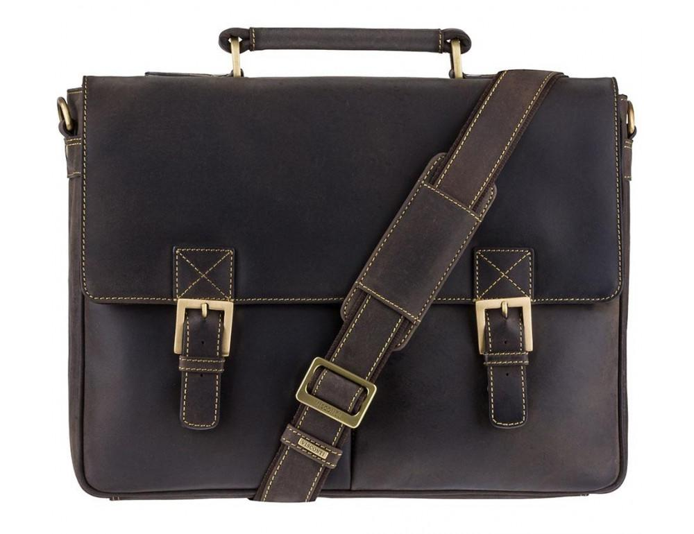 Кожаный Портфель Visconti 18716 - Berlin тёмно-коричневый - Фото № 1
