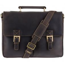 Кожаный Портфель Visconti 18716 - Berlin тёмно-коричневый
