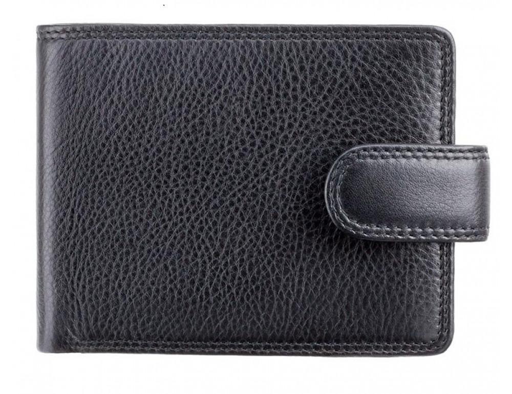 Чёрный мужской кошелек на кнопке Visconti HT13 BLK - Strand