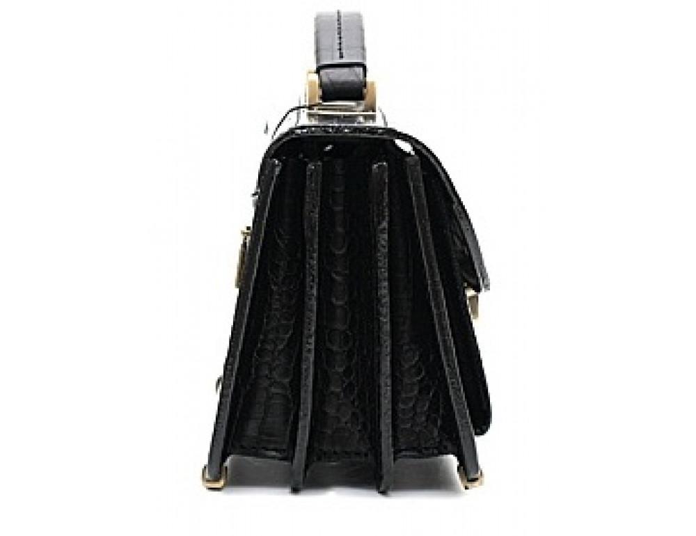 Чорна шкіряна борсетки Manufatto Візитка 2 Black croco - Фотографія № 3