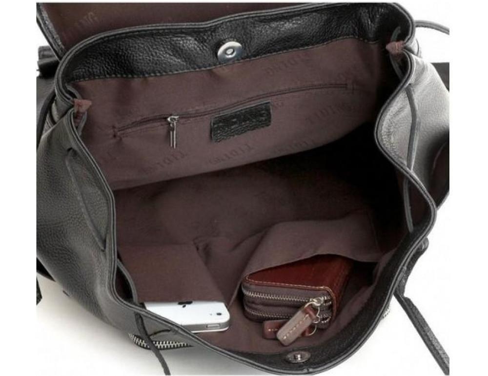 Вместительный кожаный рюкзак TIDING BAG t3067 - Фото № 2