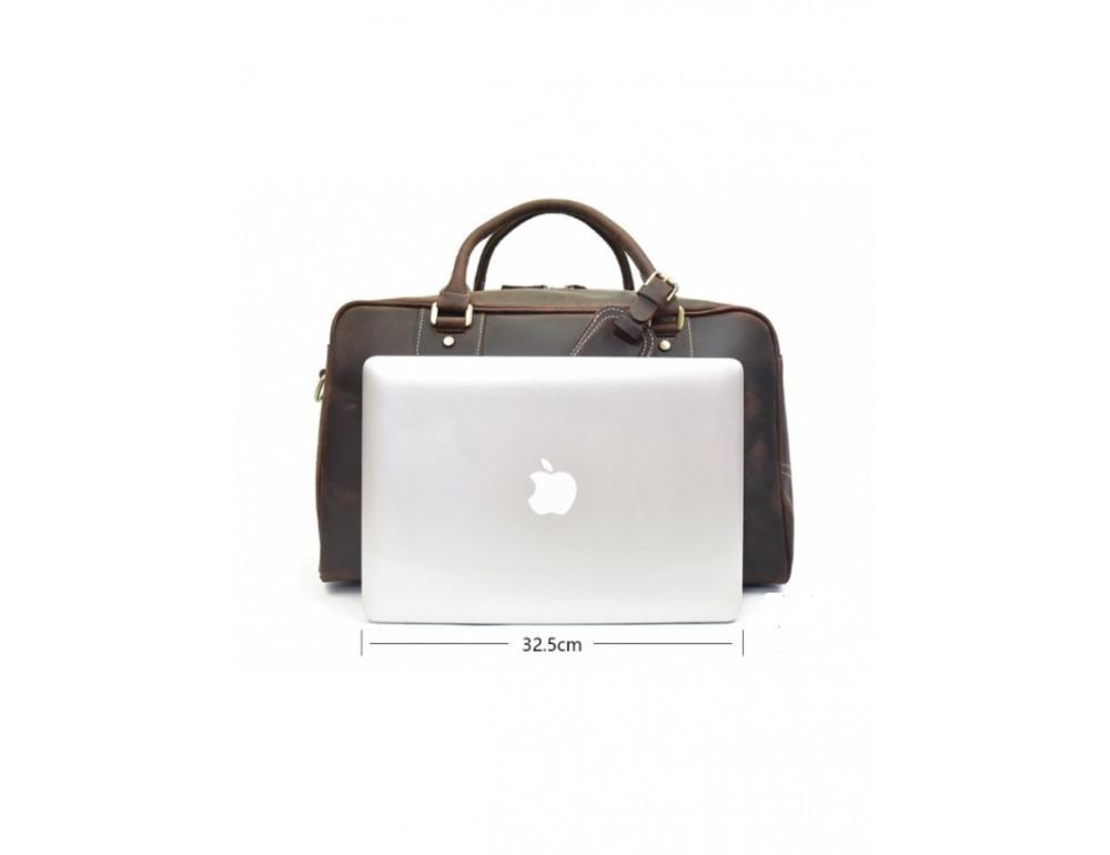 Шкіряна дорожня сумка Tiding Bag B26-7190R - Фотографія № 2