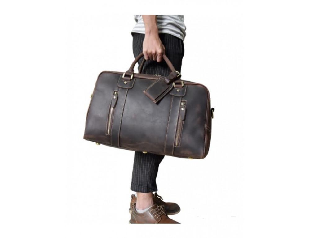 Шкіряна дорожня сумка Tiding Bag B26-7190R - Фотографія № 3