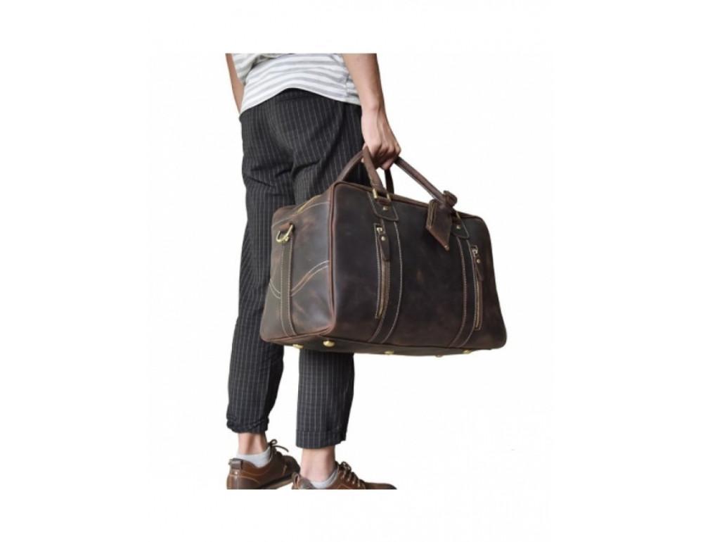 Шкіряна дорожня сумка Tiding Bag B26-7190R - Фотографія № 4