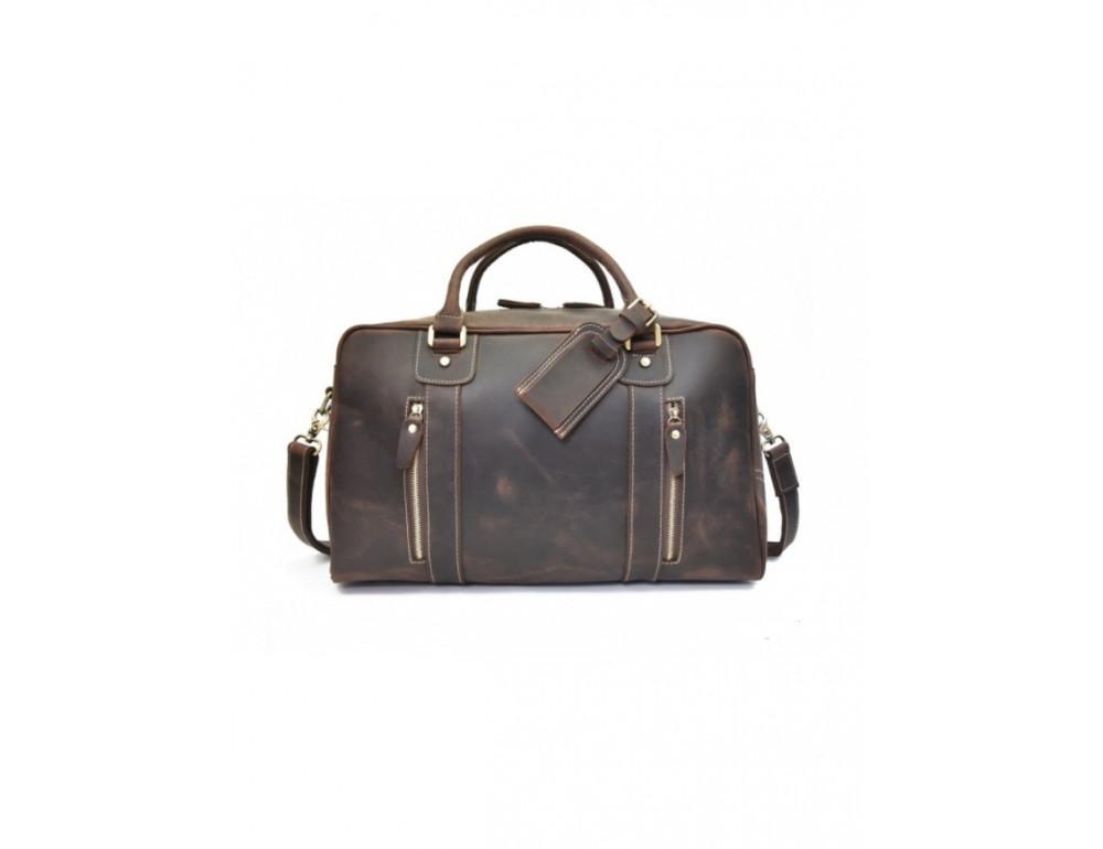 Шкіряна дорожня сумка Tiding Bag B26-7190R - Фотографія № 5