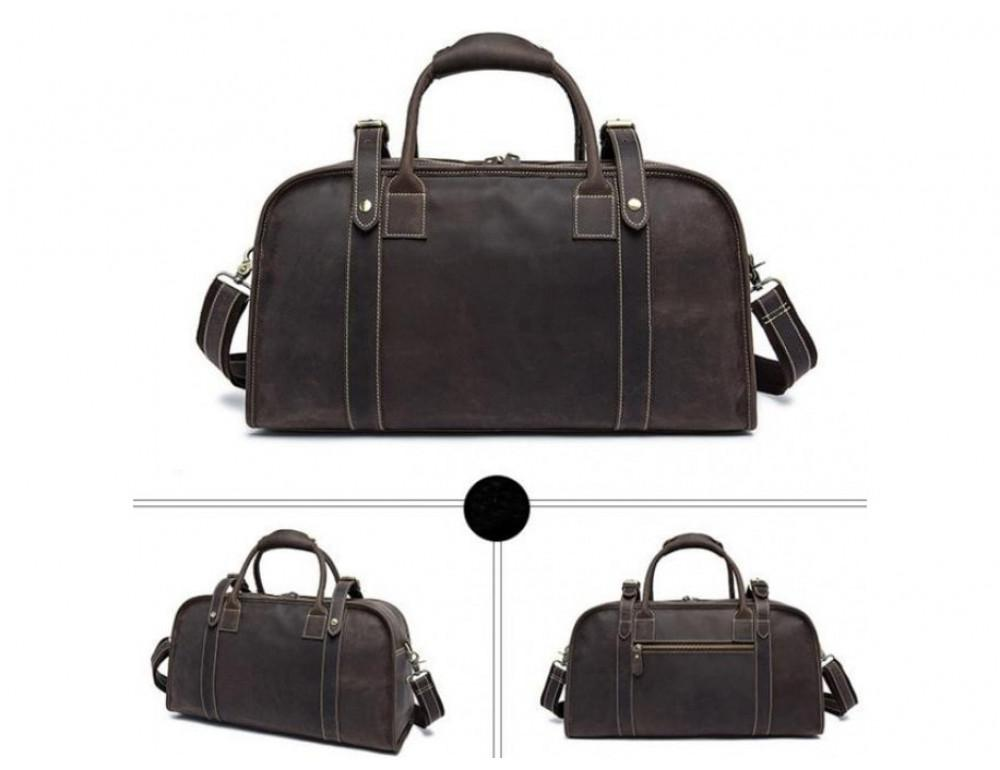 Дорожная сумка BEXHILL BX1036 коричневая - Фото № 3