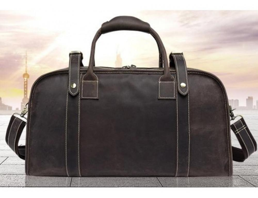 Дорожная сумка BEXHILL BX1036 коричневая - Фото № 4