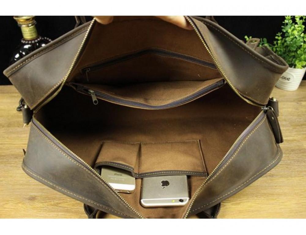 Дорожная сумка BEXHILL BX1036 коричневая - Фото № 5