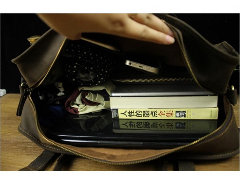 Дорожная сумка BEXHILL BX1036 коричневая - Фото № 6