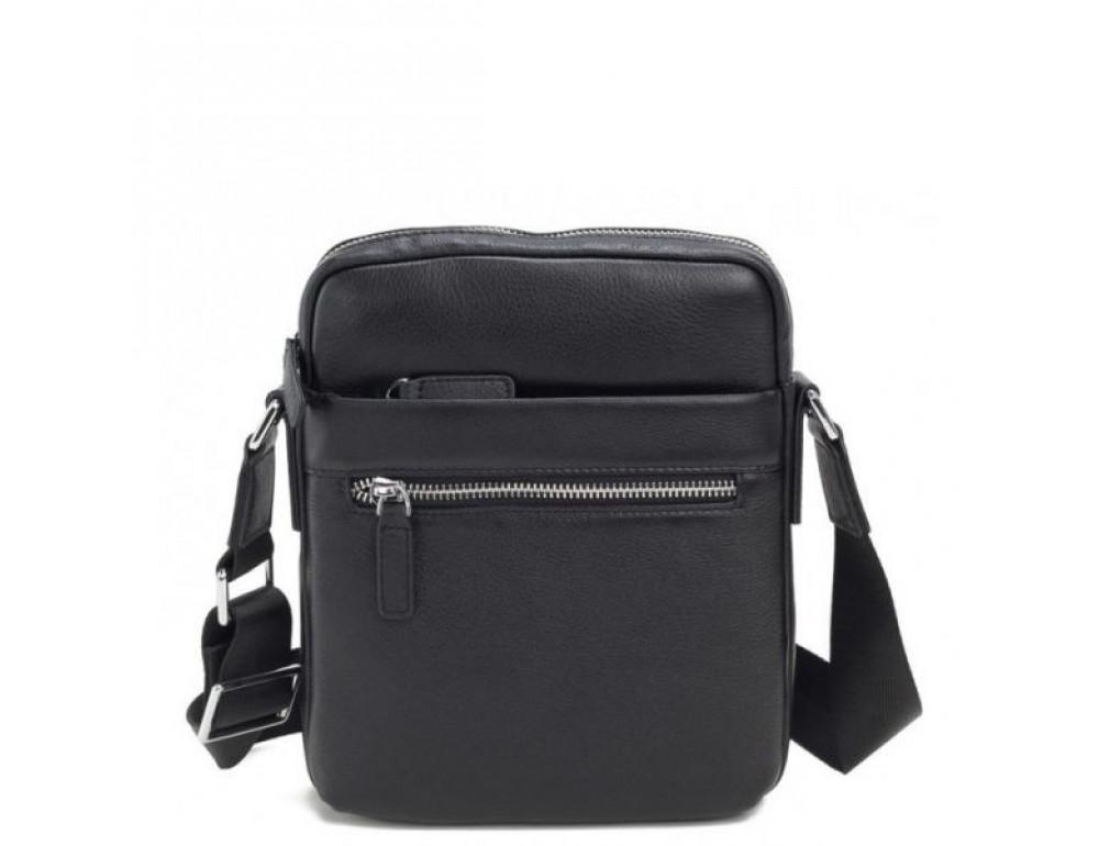 Кожаный мессенджер TIDING BAG M900-1A чёрная - Фото № 1