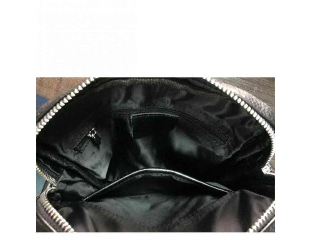 Кожаный мессенджер TIDING BAG M900-1A чёрная - Фото № 3