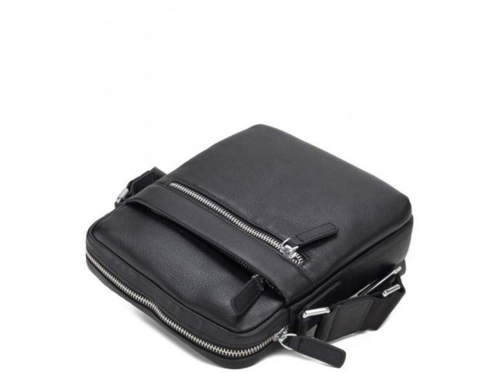 Кожаный мессенджер TIDING BAG M900-1A чёрная - Фото № 5