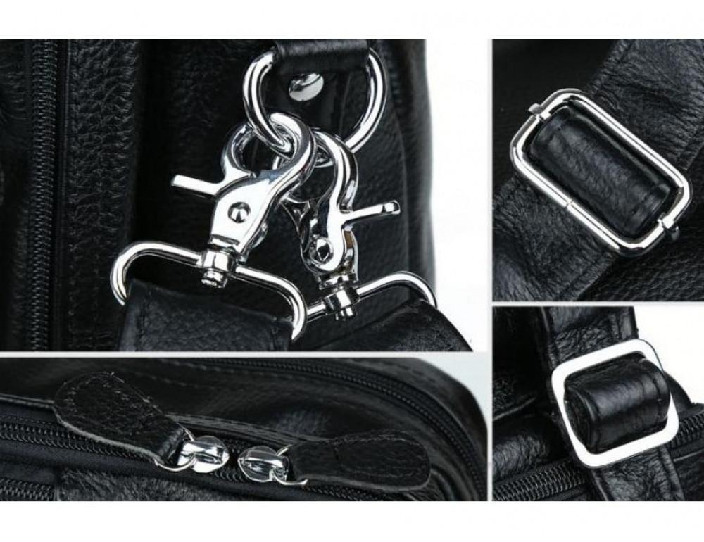 Сумка трансформер Tiding Bag M2217A чёрная - Фото № 10