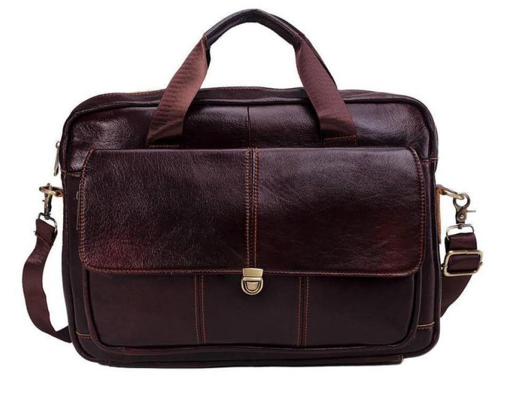 Мужская кожаная сумка macbook Bexhill BX1125C - Фото № 2