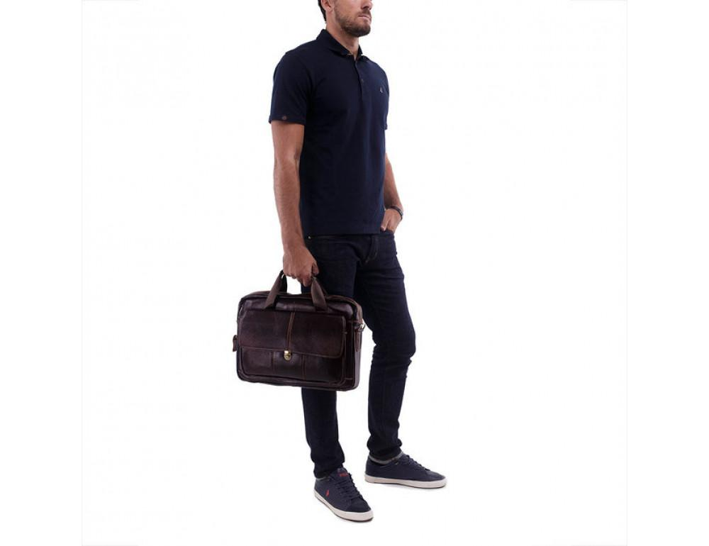 Мужская кожаная сумка macbook Bexhill BX1125C - Фото № 5