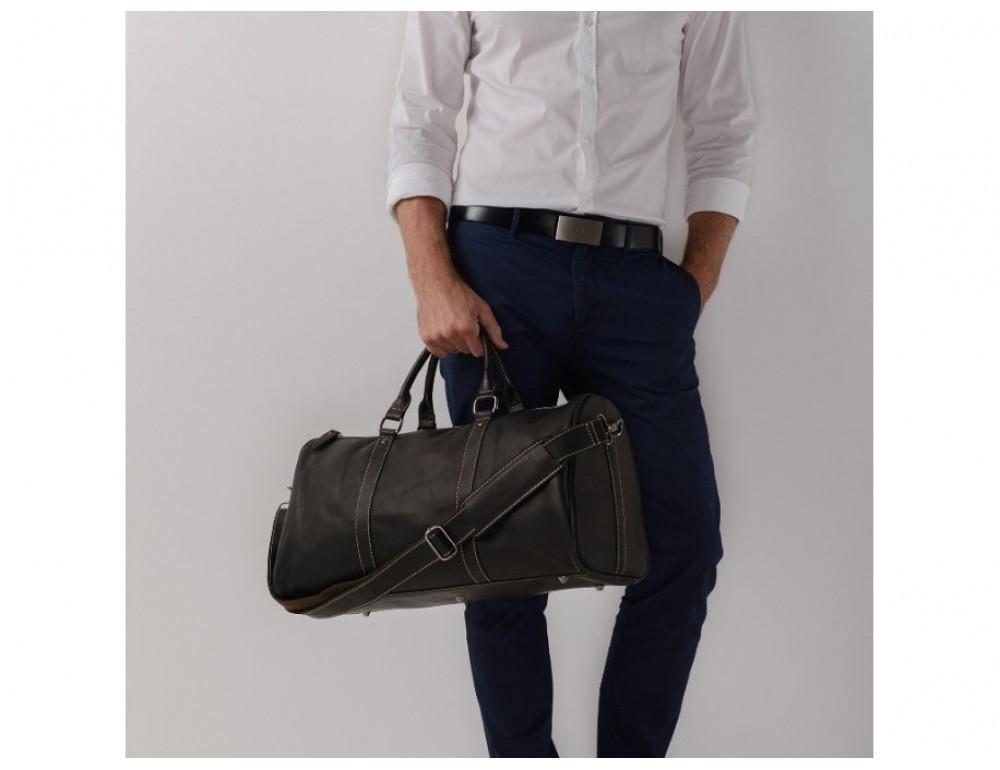 Дорожная сумка TIDING BAG Nm15-0739AR Серо-черный - Фото № 3
