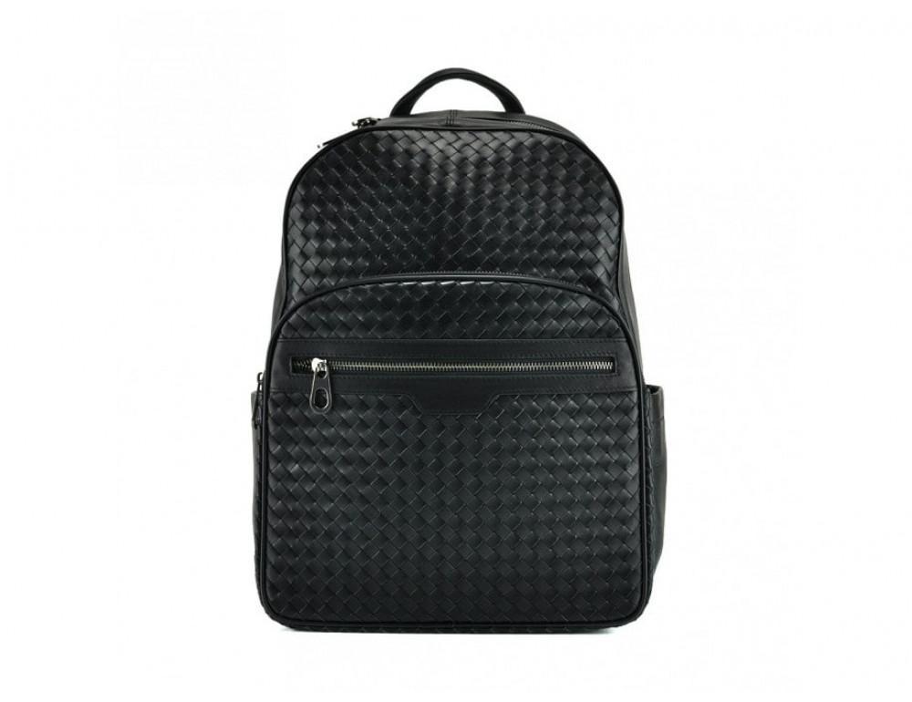 Мужской кожаный рюкзак Tiding Bag B3-8601A чёрный - Фото № 3